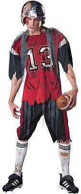 Herren Toter Zombie Football + Helm Halloween Kostüm Kleid Outfit