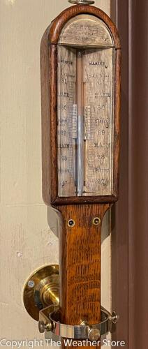 Antique Gimballed Marine Barometer - Imray, London Circa 1850