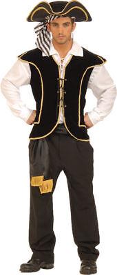 Morris Costumes Men's Pirate Lace Vest Black Gold One Size. FM60695