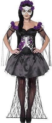 Tag der Toten Senorita Kostüm NEU - Damen Karneval Fasching Verkleidung Kostüm