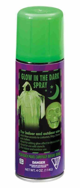 Halloween Indoor Outdoor Glow In The Dark Spray Paint Multipurpose Decoration