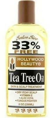 HOLLYWOOD BEAUTY Tea Tree Oil Skin & Scalp Treatment 8 oz by