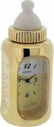 Gift Time Products Unisex Baby Bottle Miniature Clock - Gold