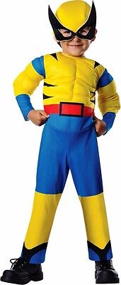Wolverine Baby Costume (Boys Child X-men The Avengers Wolverine Muscles Costume - Toddler)