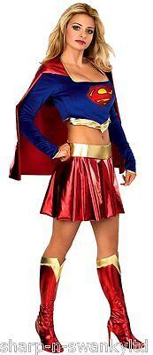 Offiziell Deluxe Damen Supergirl Powerfrau Superheld Kostüm - Deluxe Supergirl Kostüme