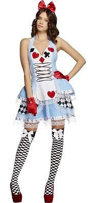 Damen Sexy Alice Im Wunderland Büchertag Halloween Kostüm Kleid Outfit ()