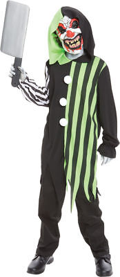 Morris Costumes Kids Unisex Clever Clown Hooded Robe & Mask Costume. MR144125](Clever Costumes)