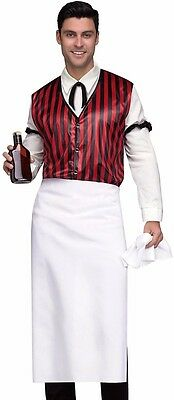 Saloon Keeper Costume Wild West Bartender Mens Adult Westworld - Fast - Male Bartender Halloween Costumes