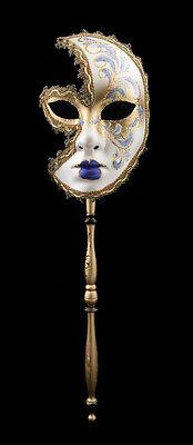 Mask Venetian in Stick Moon Anna Carnival Evening Ballgown Venice Purple 1554