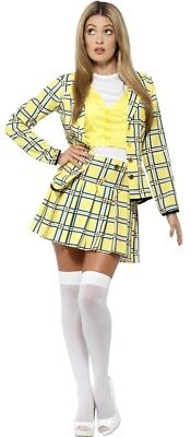 Ladies Sexy School Girl Clueless Cher 1990s Film TV Fancy Dress Costume Outfit (Cher Clueless)