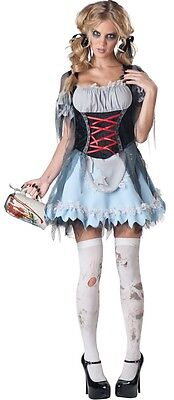 Ladies Sexy Zombie Alice Dorothy Bavarian Halloween Fancy Dress Costume Outfit](Dorothy Halloween Outfit)