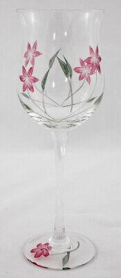 Lenox FLORAL SPIRIT Red Flowers Tulip Wine Glass