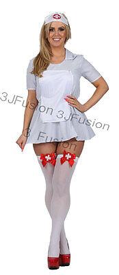 Sexy WomensAdult Naughty Nurse Costume Ladies Fancy Dress Hen Party FREE POST - Naughty Nurse Kostüm