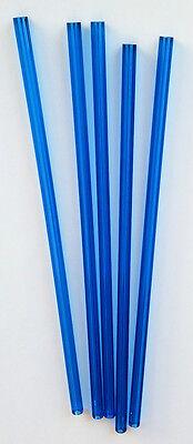 5 Pc 38 Od 18 Id Blue Clear Translucent Acrylic Plexiglass Tube 12 Inch