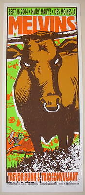 2004 Melvins - Des Moines Silkscreen Concert Poster S/N by Squad 19