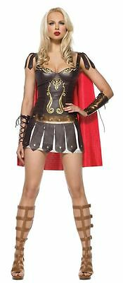 Halloween Fancy Dress Ladies Roman Warrior Outfit Dress Up Party Costume