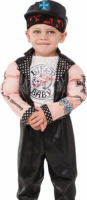 Boys With Muscles (Biker Costume with Muscles Motorcycle Tattoos Funny Boys Childs Toddler)