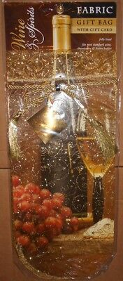 Cloth Fabric High End Champagne Liquor Gift Bag Holiday Luxury Wine Present -