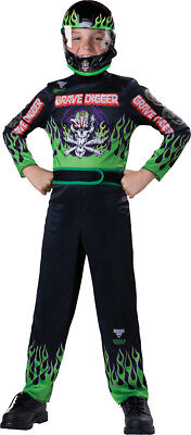 Morris Costumes Boys Long Sleeve Monster Jam Grave Digger Costume 8. IC131702MD