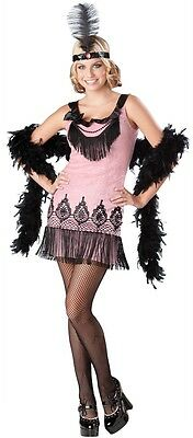 Teenage Girls 1920s Flapper Halloween Fancy Dress Costume Outfit 12-17 years