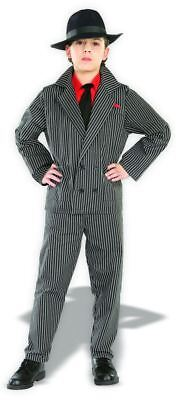 Child Gangster Halloween Costumes (Gangster Costume Child Boys Suit Halloween Mafia Pinstriped Zoot 20s Kids)