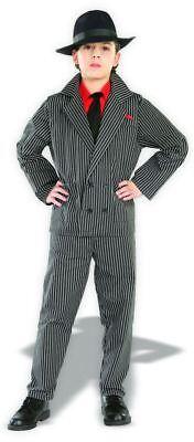 Gangster Costume Child Boys Suit Halloween Mafia Pinstriped Zoot 20s Kids NEW