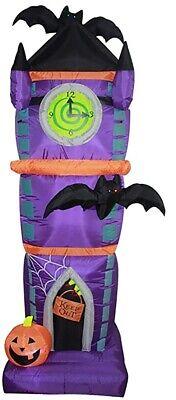 7 1/2' Air Blown Inflatable Halloween Clock Tow Halloween Yard Decoration