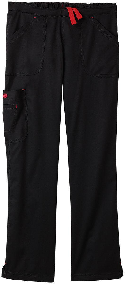 99202 Bio Stretch Women/'s Drawstring Closure Multi Pocket Cargo Scrub Pant