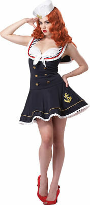 Female Marine Costume (Nautical  Doll Sexy Military Sailor Navy Adult Costume SIZE SMALL)