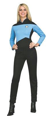 Deluxe Star Trek Next Generation Science Uniform Womens Jumpsuit Blue (Womens Star Trek Kostüm)