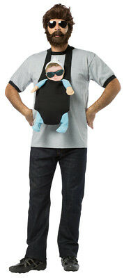 Alan Garner With Baby Carlos Costume Kit The Hangover Baby Carrier Wig Beard