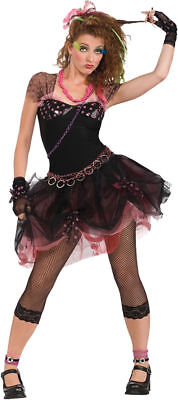 Morris Costumes Women's 1980s Diva Madonna Pop Rock Complete Outfit. - 1980s Outfit