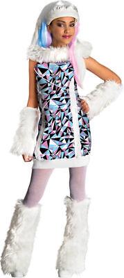 Morris Costumes Girls Monster High Abbey Bominable Child Costume 4-6. RU881362SM (Monster High Costumes Abbey Bominable)