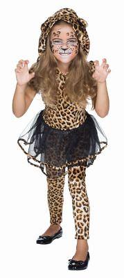 Rub - Kinder Kostüm Leopard Kleid Leggings Karneval Fasching