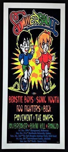 Beastie Boys POSTER Tour Sonic Youth Foo Fighters Beck Pavement Silkscreen TAZ