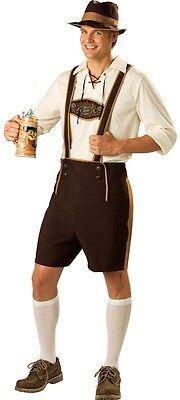 Herren Oktoberfest Bayrisch Deutsche Bier Lederhosen Kostüm Kleid Outfit M-3X ()