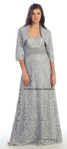 MOTHER-of-the-BRIDE-GROOM-PLUS-SIZE-FORMAL-EVENING-GOWN-JACKET-LONG-CRUISE-DRESS