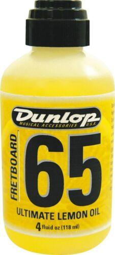 Dunlop 6554 Fretboard 65 Ultimate Fret Board Lemon Oil, 4oz Guitar Cleaner