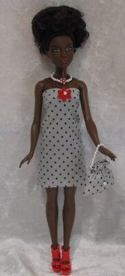 Made To Fit PETITE BARBIE Fashionistas 31 Clothes, Dress, Purse, Necklace Set - $5.25