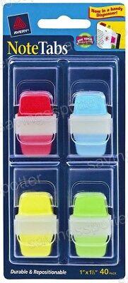 Avery Notetabs 1 X 1.5 Note Tabs Mini Thick Dispenser Assort Neon 40 Pk