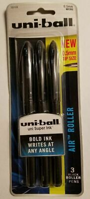 9 Uni-ball Air Black Rollerball Cap Pens 0.5mm Point Wholesale Price