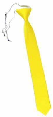 XXL TigerTie Security Sicherheits Krawatte in leuchtgelb neongelb einfarbig Uni