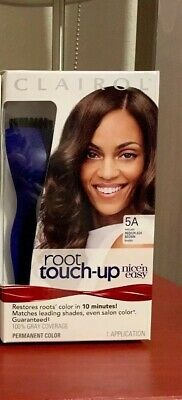 CLAIROL Root Touch-Up NICE 'N EASY Brush & Tray Hair Color # 5A Medium Ash Brown ()