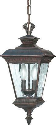 Bronze Outdoor Hanging Lantern - Nuvo Lighting Charter 2 Light Outdoor Hanging Lantern in Old Penny Bronze