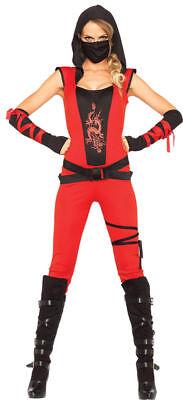 Morris Costumes Adult Women's Asian Ninja Outfit Red Black L. UA85384LG