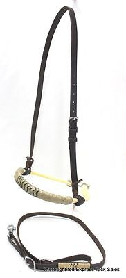 Latigo Leather Tie Down - D.A. Brand Latigo Leather Double Rope Nose Band and Tie Down Set horse tack