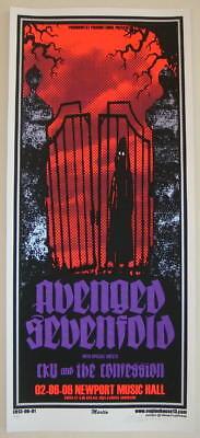 2006 Avenged Sevenfold - Columbus Silkscreen Concert Poster S/N by Mike Martin