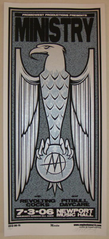 2006 Ministry - Columbus Silkscreen Concert Poster S/N by Mike Martin