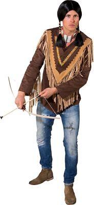 Orl - Herren Kostüm Western Indianer Poncho Karneval Fasching