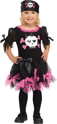 Morris Costumes Toddler Sally Skully Little Pirate Dress 3T-4T. FW111151TL